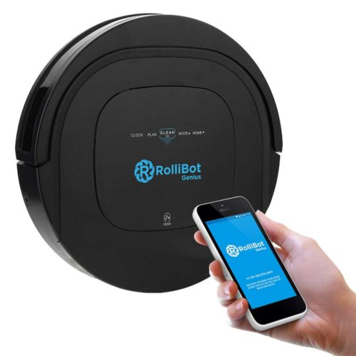 rollibot bl 800 auto robotic vacuum cleaner with mobile app