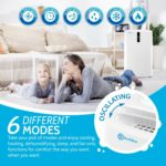 RolliCool COOL310-19 has 6 different modes for cooling, heating, dehumidifying, and more.