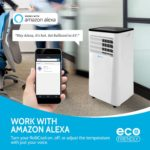 RolliCool Cool208 works with Amazon Alexa allowing you to control the AC unit by voice control